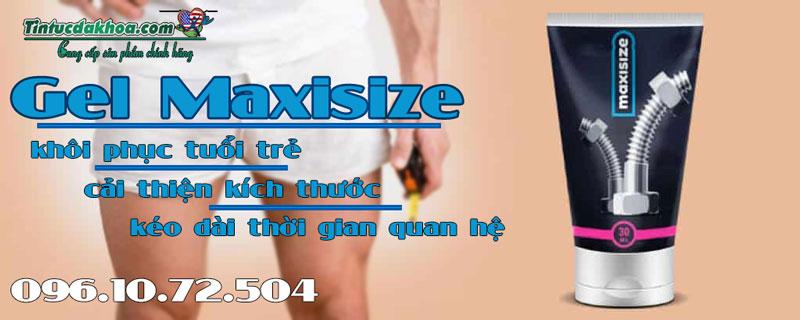 tác dụng của gel maxisize